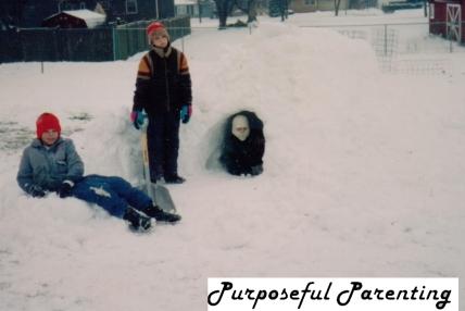 in snow