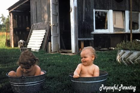 in buckets