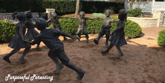bronze children