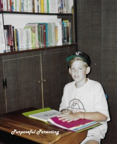Eldest son at his desk